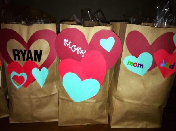 Presents for my other Valentines, nephews Ryan, Ricky, and my folks.