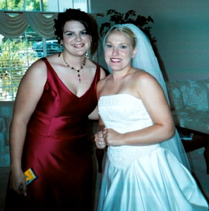 """One of the early weddings, though not the first, was for my dear friend, Angela.  Note the disposable camera in my hand.  Many of the pictures from those early days are """"analog"""" and not available for posting."""