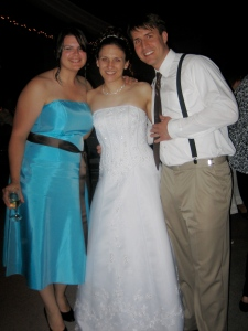 I introduced this bride (Sandi) and groom (Matt) to one another.  I was so honored to be included in their special day.